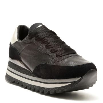 LEATHER RUNNING SNEAKERS